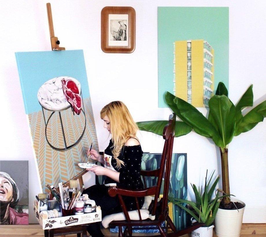 wallpaper hard wax natalia lewandowska @natalia.lew.andowska @natalia.lewandowska.art painting