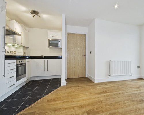 An example of laminate flooring in a flat