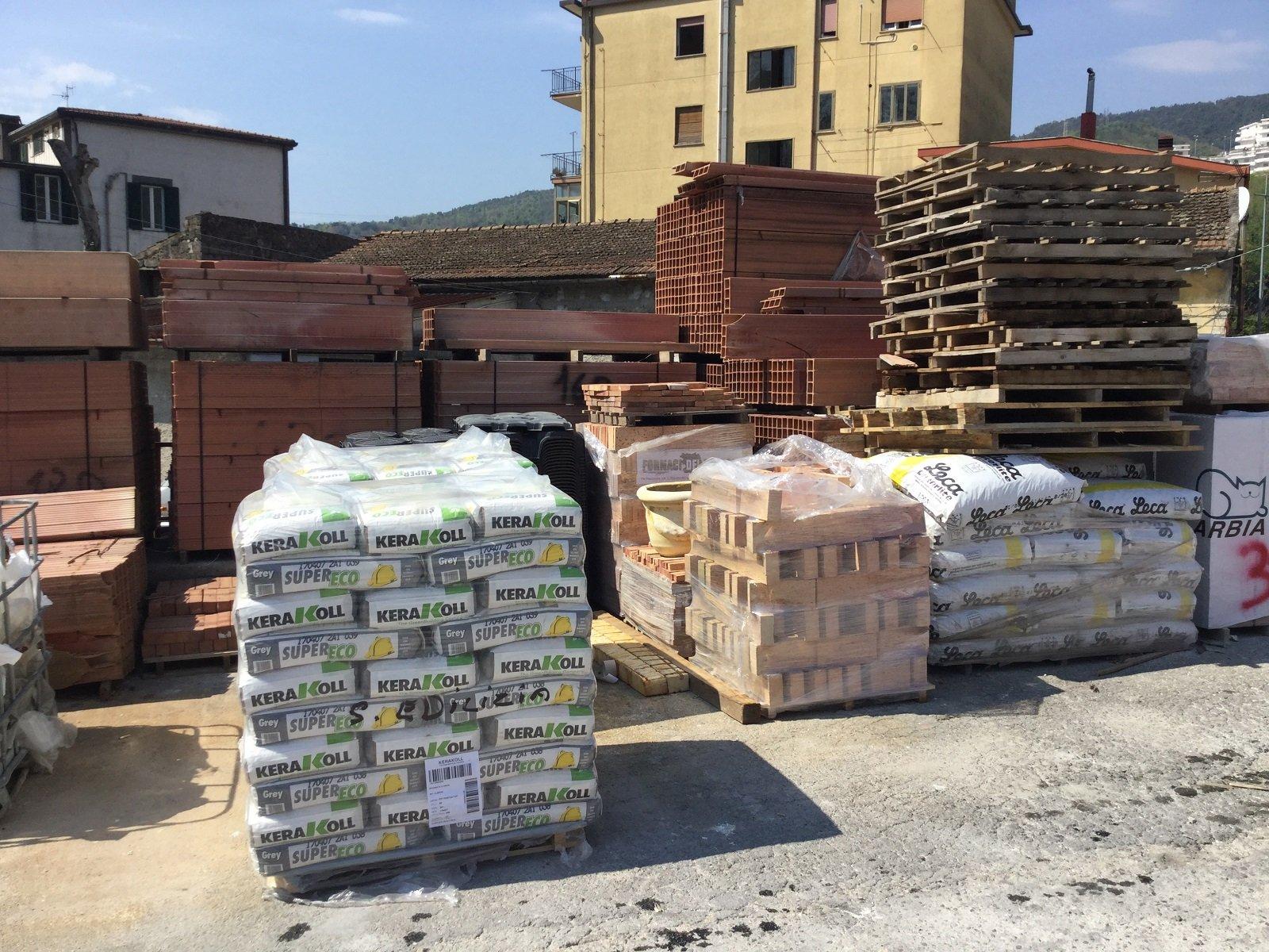 dei materiali per l'edilizia leca