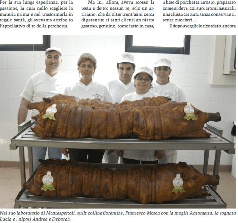 Produzione artigianlae porchetta