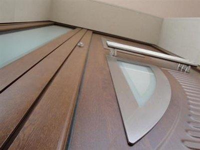 porta in legno e alluminio