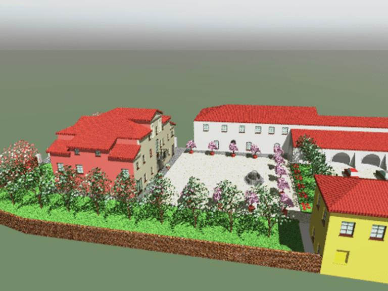 Proposta sistemazione giardino di Villa Combi 2