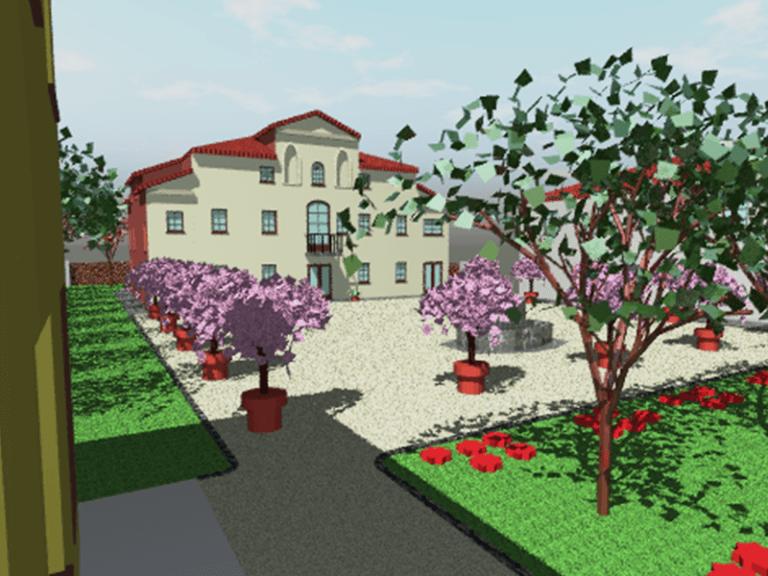 Proposta sistemazione giardino di Villa Combi