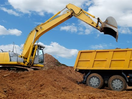 excavator dump truck