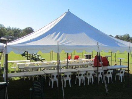 white tent event
