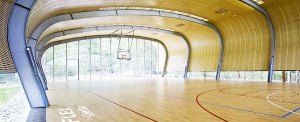 pavimenti in parquet palazzetto sport