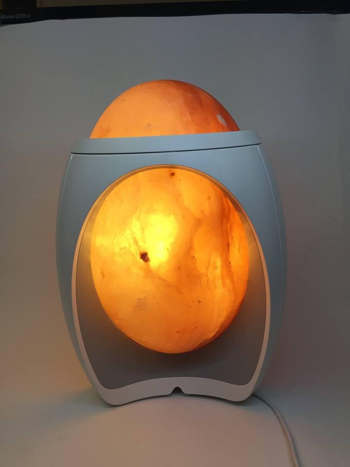 lampada di sale a forma di uovo