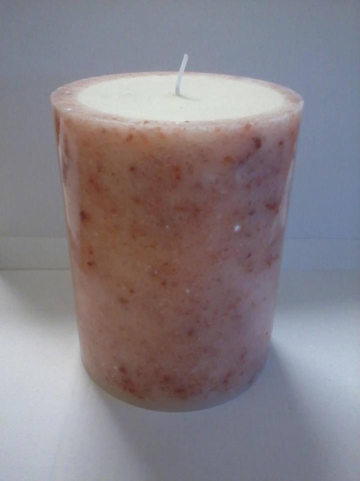 candela prodotta con sale rosa