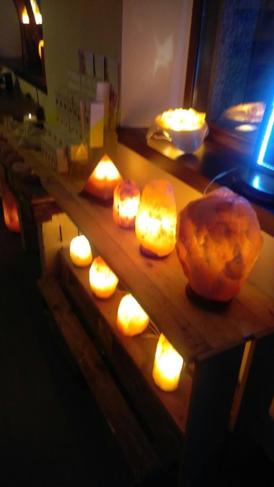 assortimento lampade di sale