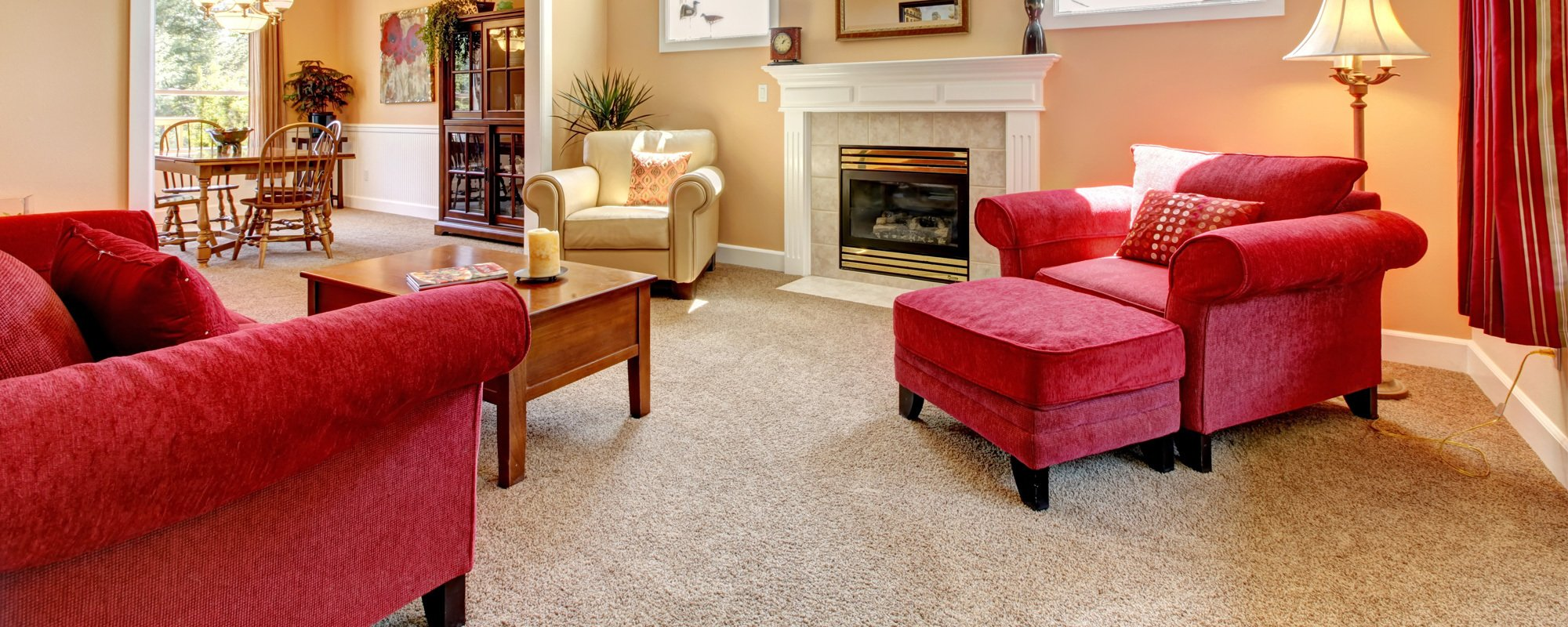 View of the fine wall to wall flooring done by experts