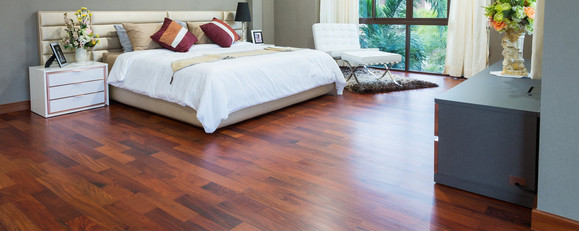 View of the wooden flooring