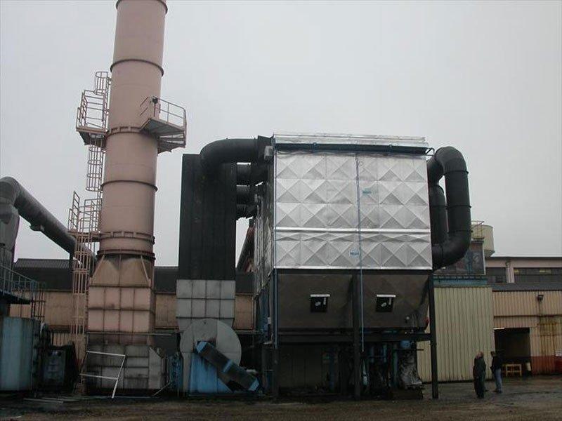 impianti di aspirazione e assorbimento di vapori da polveri