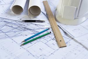 building plan being designed