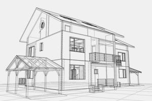 sketch of a building