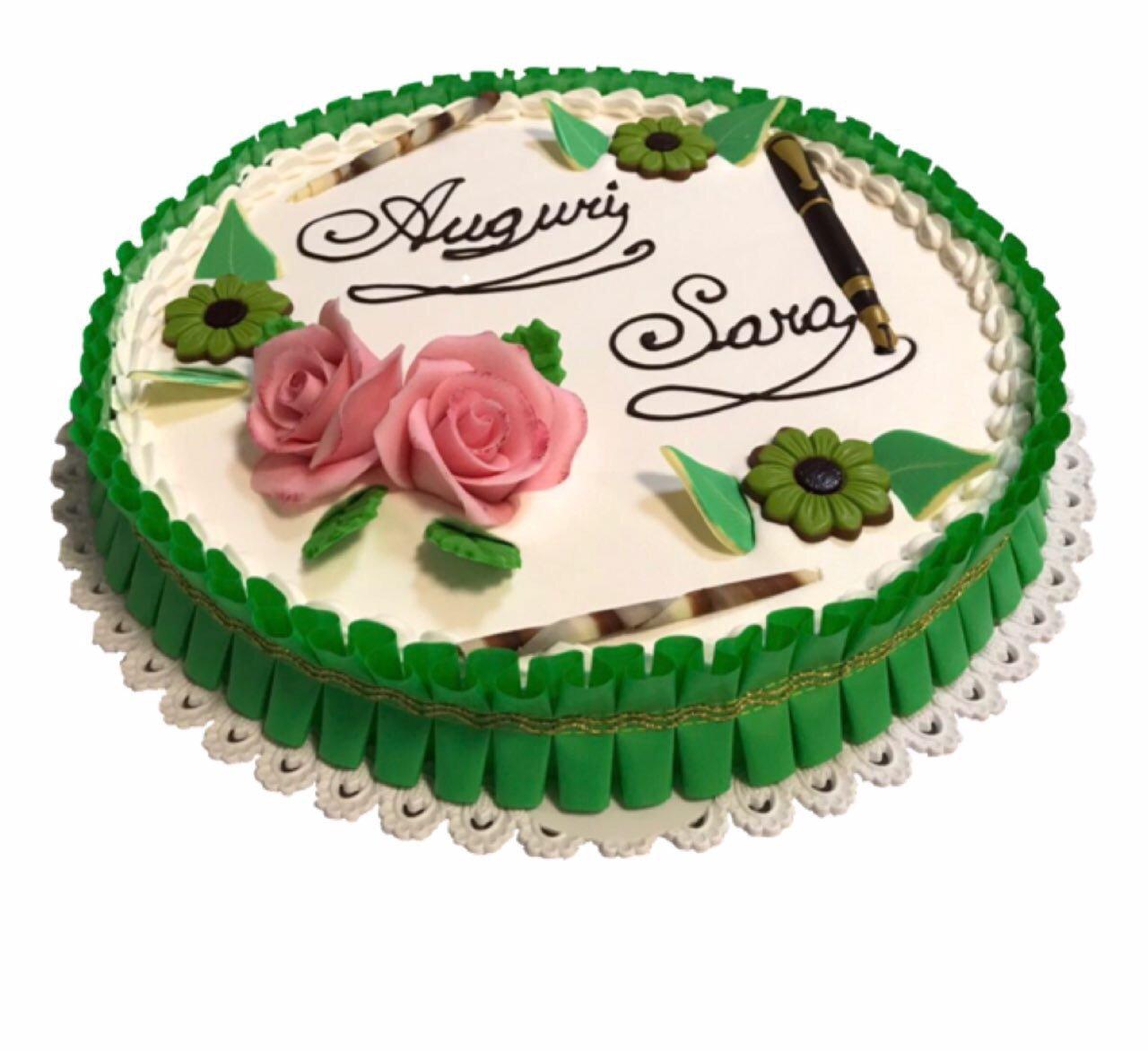 torta rotonda verde