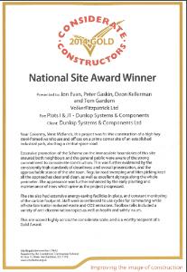 VolkerFitzpatrick Award for Dunlop Building