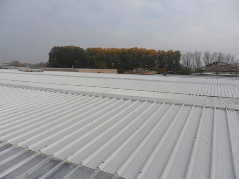 Ristrutturazione coperture industriali in alluminio Parma