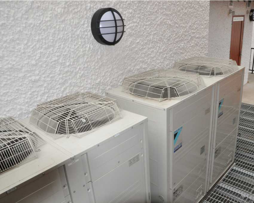 daikin ac units along white wall