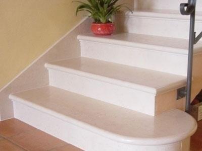 Realizzazione scale in marmo codevigo padova marmi cavalletto - Marmo per scale ...
