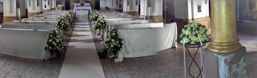 allestimento chiesa per nozze