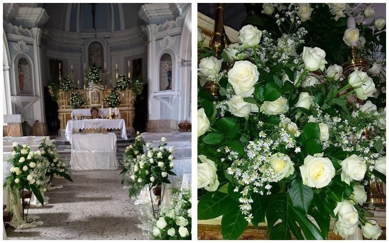 rose bianche per nozze