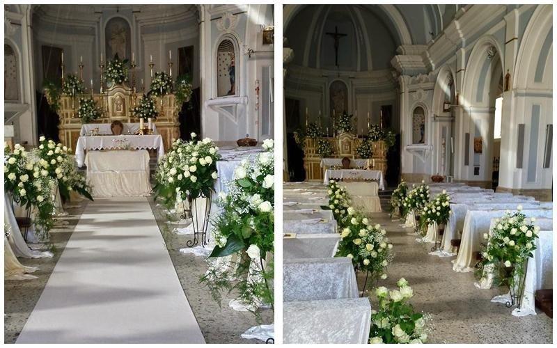 allestimento fiori bianchi