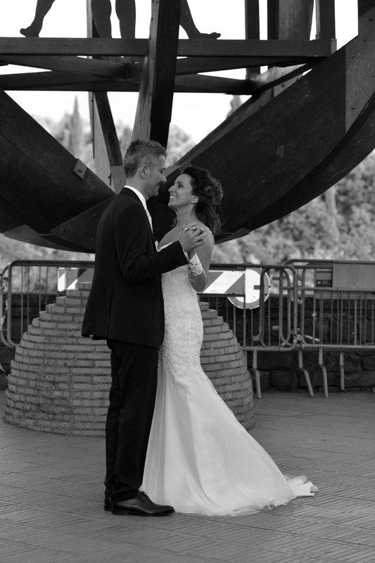 coppia di sposi, bianco e nero