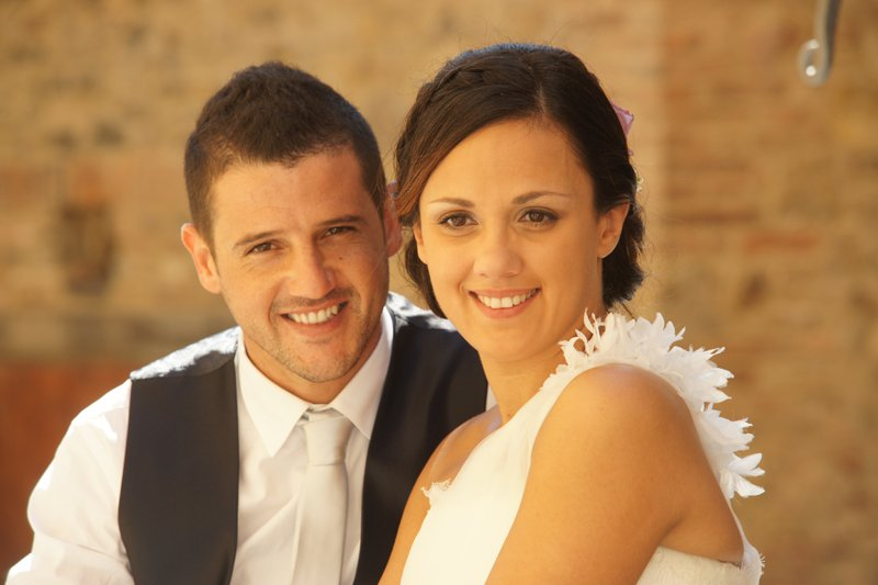 foto ricordo del matrimonio di una coppia di sposi