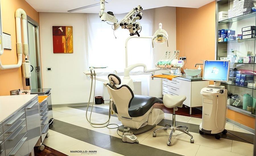 interno dell'ambulatorio dentistico