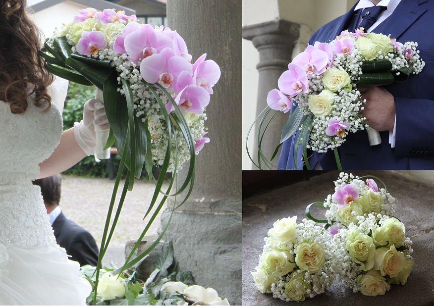 composizione floreale con orchidee