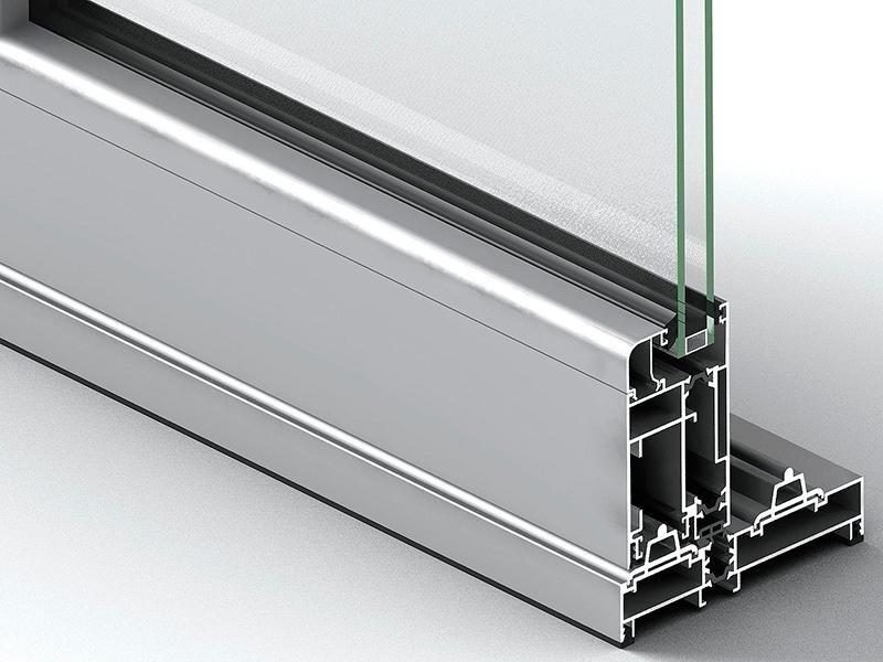 Profilo porta in alluminio