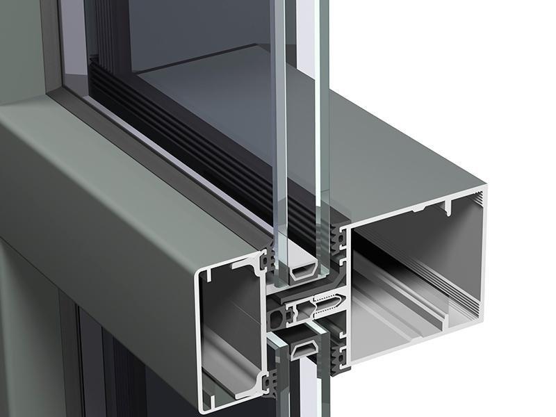 Profilo in alluminio doppio vetro