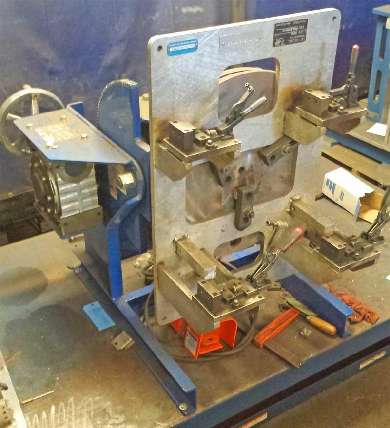 Model 1504 Welding Positioner in production