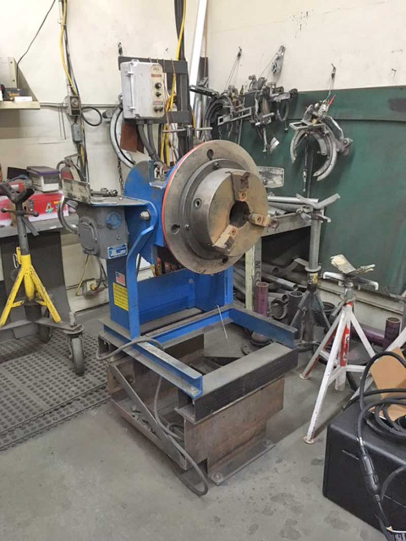 Model 804 Welding Positioner in Production