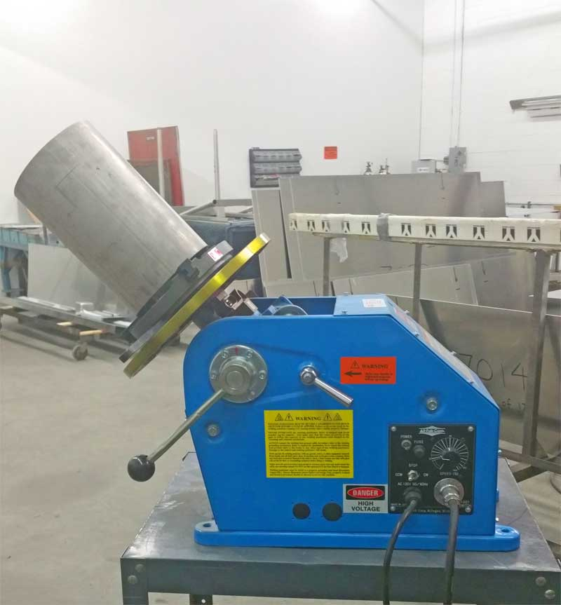 All Fab Welding Positioner used in Production