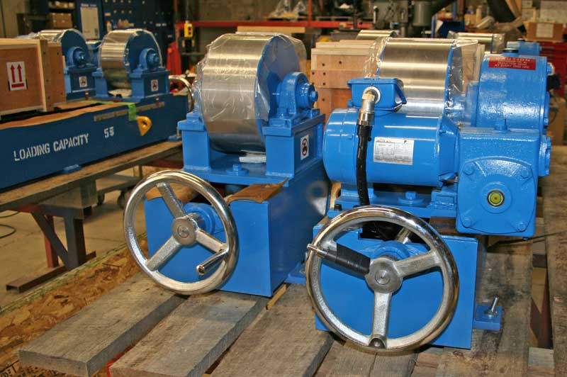 MAC Model RD-10-INW Tank Turning rolls with custom solid steel rollers