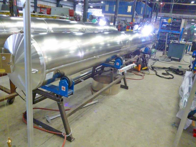 Tank Turning Rolls in Production