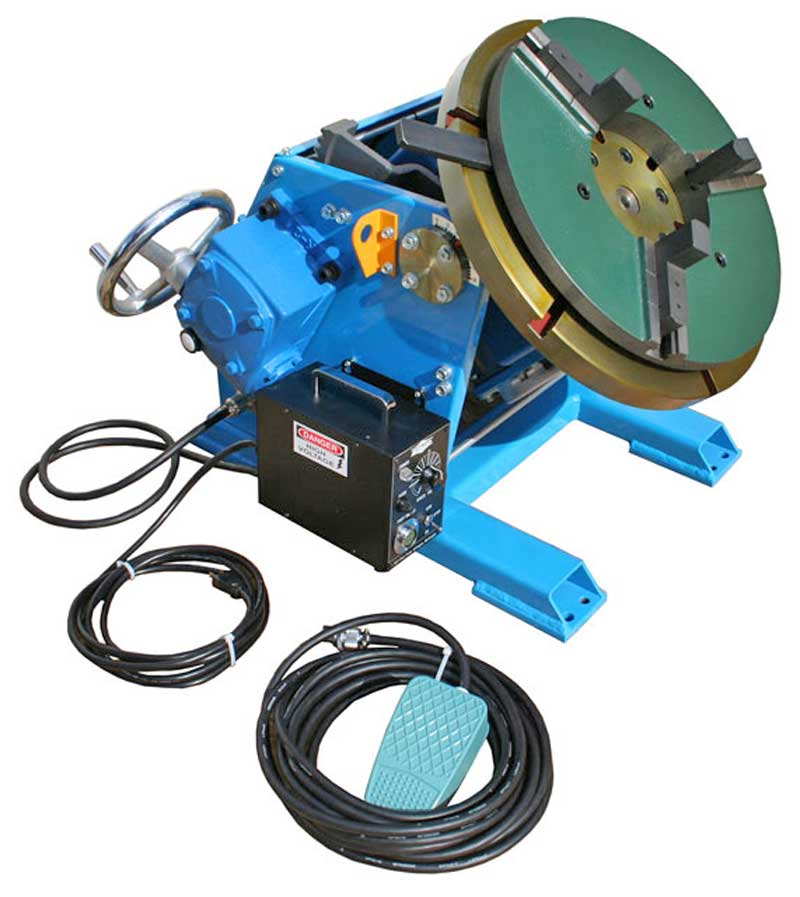 Model PS-3F welding positioner with optional wp-400 chuck
