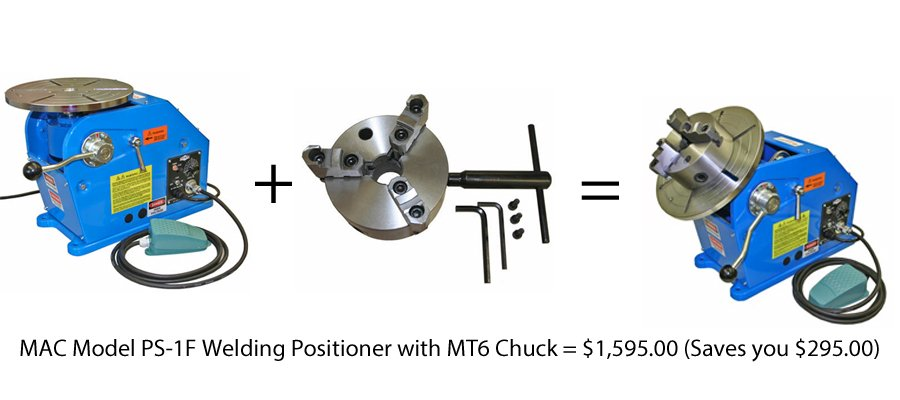 PS-1F Welding Positioner With MT 6 Welding chuck