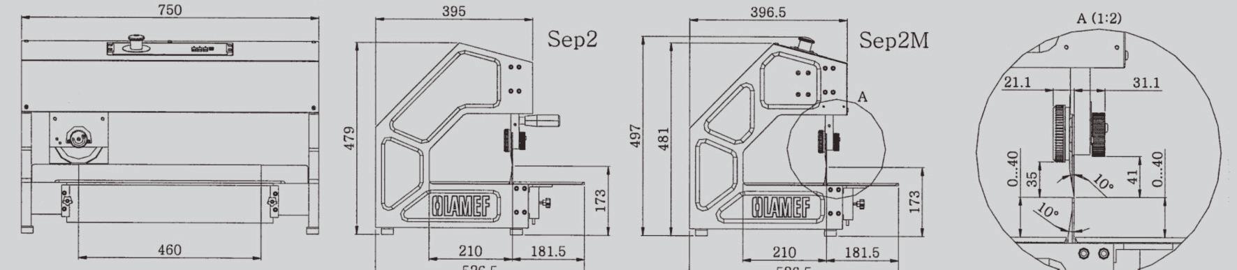 Disegno macchina manuale per separazione schede