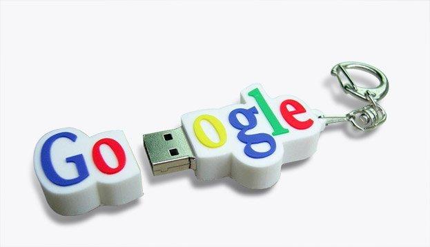 GOOGLE USB MEMORY DISK דיסק און קי במראה לוגו גוגל