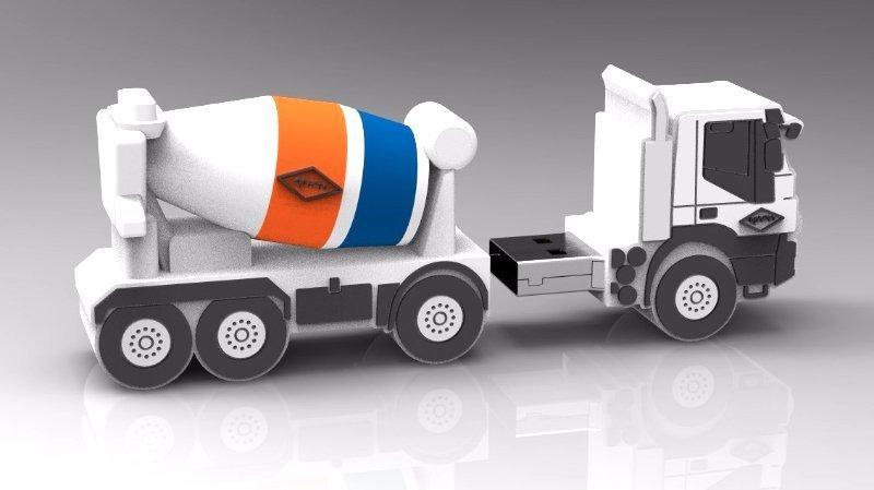 CEMENT TRUCK USB DISK  דיסק און קי במראה משאית בטון