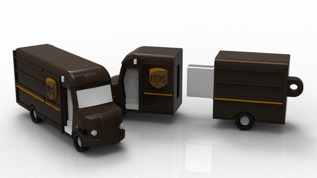 UPS TRUCK USB DISK דיסק און קי במראה רכב יופיאס