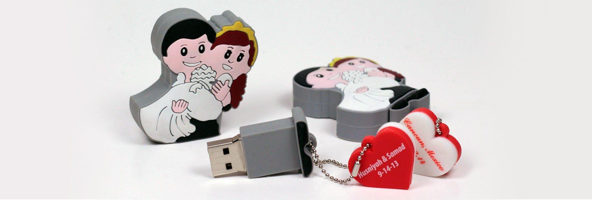 דיסק און קי חתן וכלה WEDDING USB DISK MEMORY