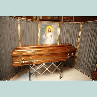 cassa da morto con maniglia in legno