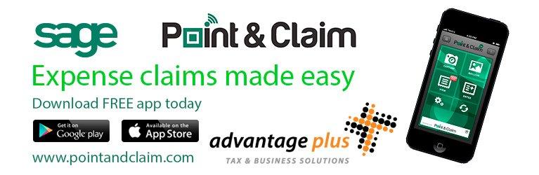 advantage plus sage point and claim logo