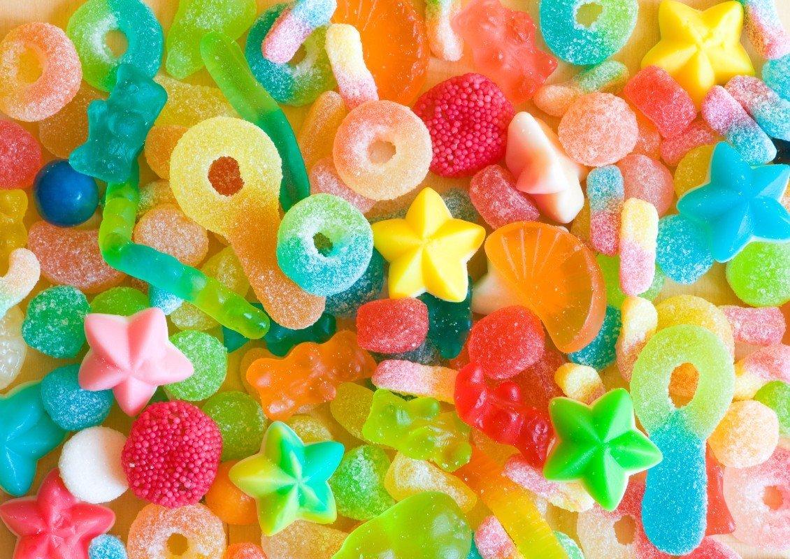 Caramelle gommose di vario colore