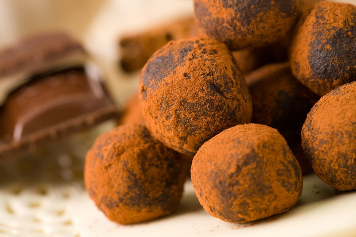 Praline di tartufo al cioccolato