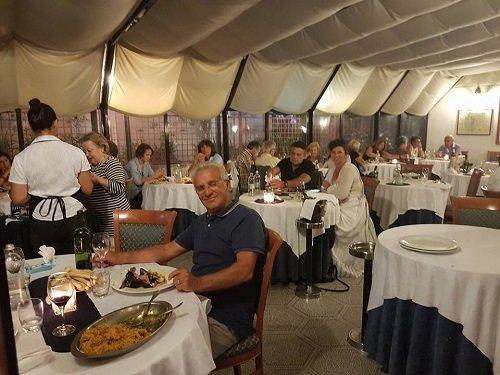ristorante durante un banchetto privato