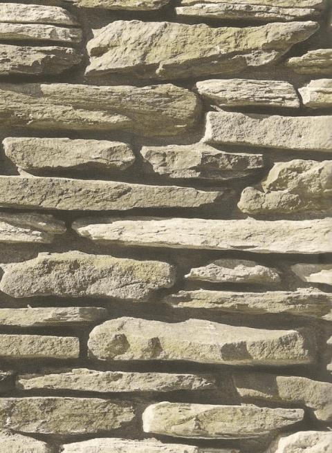 Parete in pietra con pietra listellare